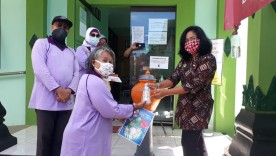 Kesi Panembahan Sediakan Perlengkapan Cuci Tangan di Kantor Kelurahan